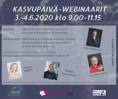 Kasvupäivät-webinaarit 3.-4.6.2020